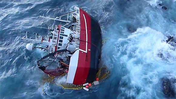 Διάσωση πληρώματος αλιευτικού στη Νορβηγία