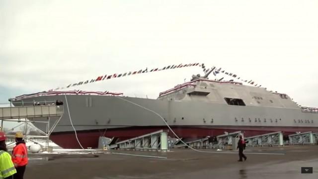 Βίντεο από την καθέλκυση του USS Sioux City
