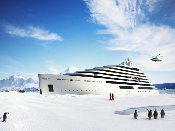 Το μεγαλύτερο μέγα γιοτ κατηγορίας «polar class» από την Crystal Yacht Cruises