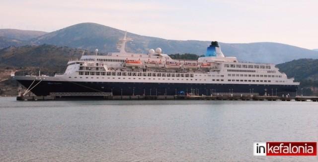 Έφτασε στην Κεφαλονιά το πρώτο κρουαζιερόπλοιο της χρονιάς