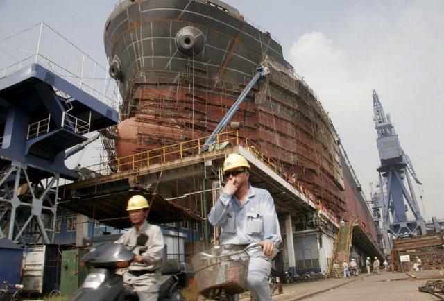 Σε δραματική πτώση τα ναυπηγεία της Κίνας