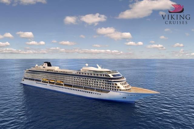 """Νέο κρουαζιερόπλοιο που φέρει το όνομα """"Viking Sea"""" παρέλαβε η Viking Cruises"""