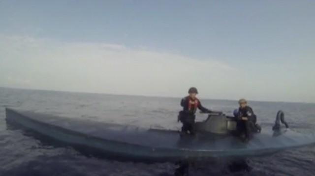 Η Αμερικανική Ακτοφυλακή εντόπισε ημι-υποβρύχιο σκάφος με 6 τόνους κοκαΐνης
