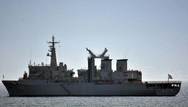 H Φρεγάτα του πολεμικού Ναυτικού Αδρίας στο Ναύπλιο,