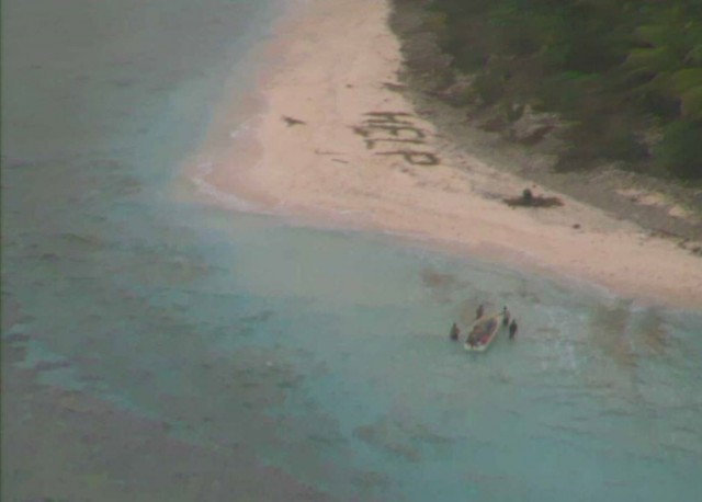 """Σώθηκαν μετά από τον εντοπισμό ενός μηνύματος που έγραφε """"HELP"""" σε ένα ακατοίκητο νησί"""