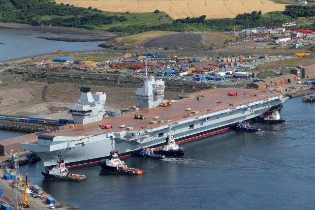 Κίνδυνος να εκτροχιαστεί ο προϋπολογισμός κατασκευής του μεγαλύτερου αεροπλανοφόρου του Ηνωμένου Βασιλείου