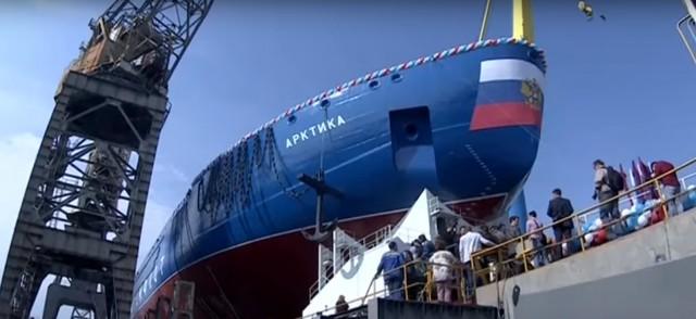 Το μεγαλύτερο πυρηνοκίνητο παγοθραυστικό αξίας $ 2 δις εξέρχεται από τα ναυπηγεία της Αγίας Πετρούπολης