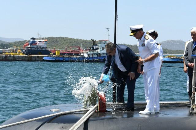 Τελετή ονοματοδοσίας και ύψωσης σημαίας των υποβρυχίων ΜΑΤΡΩΖΟΣ και ΚΑΤΣΩΝΗΣ