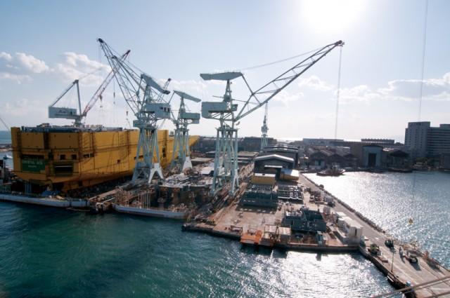 Συνεχής η μείωση των παραγγελιών στα ιαπωνικά ναυπηγεία