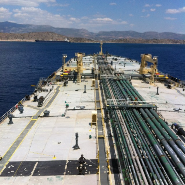 O χθεσινός αγιασμός στο πετρελαιοφόρο πλοίο «UNITED KALAVRYTA»