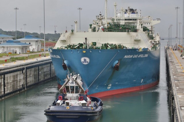 Το πρώτο πλοίο μεταφοράς LNG που διέπλευσε τη Διώρυγα του Παναμά ήταν του ομίλου Αγγελικούση
