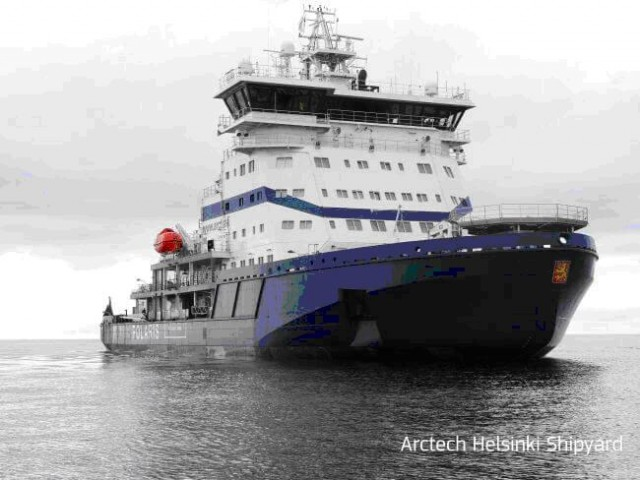 Το παγοθραυστικό Polaris αποτελεί δείγμα της φινλανδικής ναυπηγικής τεχνογνωσίας