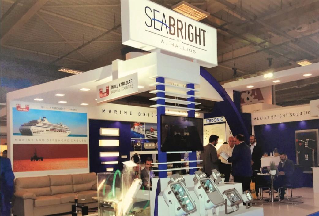 """Το περίπτερο της SeaBright στη διεθνή ναυτιλιακή έκθεση """"Ποσειδώνια 2016"""""""