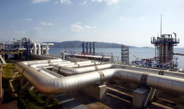 Συνάντηση του Poseidon Med II στον Τερματικό Σταθμό ΥΦΑ στη Ρεβυθούσα