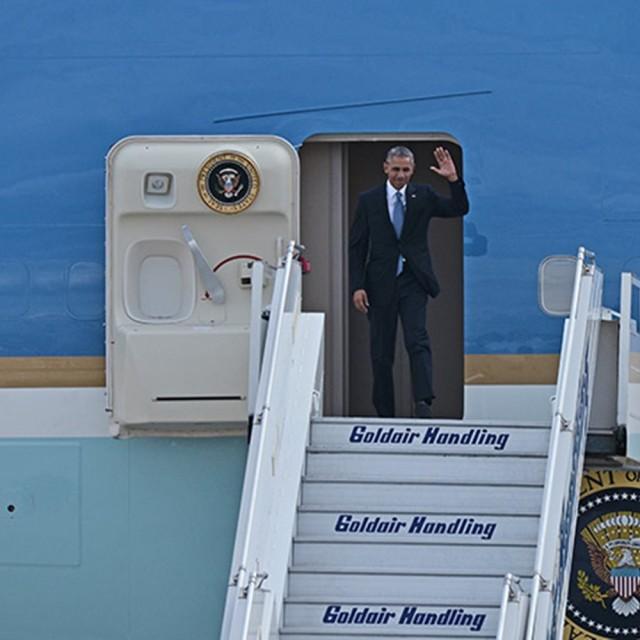 Στην Αθήνα ο έφτασε ο Μπαράκ Ομπάμα