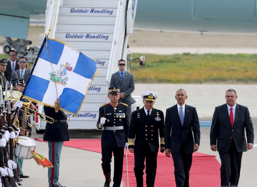 Στιγμιότυπο από την επίσκεψη του Προέδρου των Ηνωμένων Πολιτειών, Μπαράκ Ομπάμα στην Αθήνα