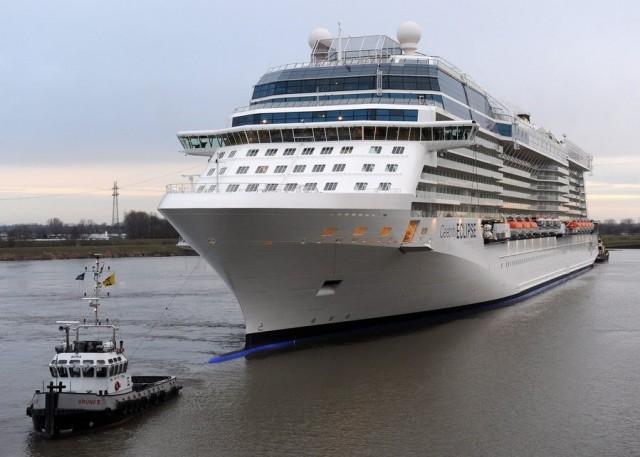 H τελετή στα ναυπηγεία STX France για το νέο κρουαζιερόπλοιο της Celebrity Cruises