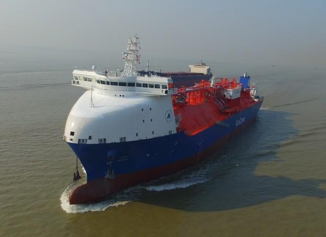 Η Ocean Yield παραλαμβάνει νέο πλοίο μεταφοράς υγροποιημένου αιθυλενίου (LEG) (φωτογραφίες)