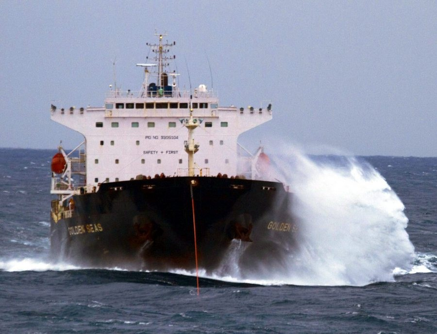 Tanker ship regained propulsion in Alaskan Sea