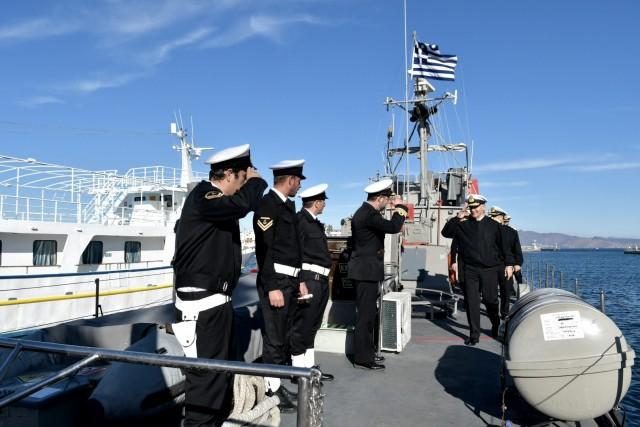 Επίσκεψη Αρχηγού Γενικού Επιτελείου Ναυτικού σε νήσους Ανατολικού Αιγαίου και Πολεμικά Πλοία εν όρμω