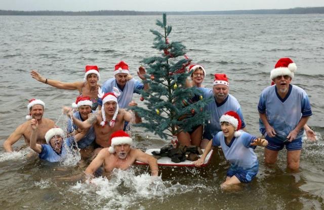 Christmas swimming