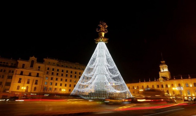 Christmas decoration in Tbilisi