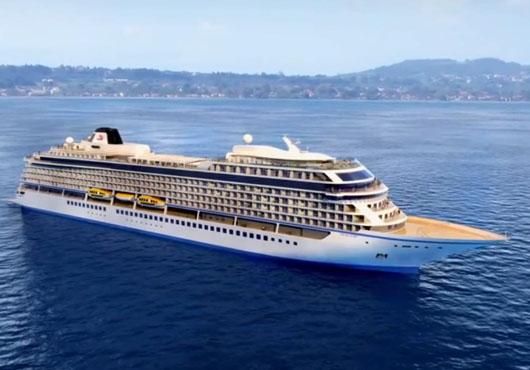 Το τρίτο από τα έξι κρουαζιερόπλοια, που παρήγγειλε, παρέλαβε η Viking Cruises