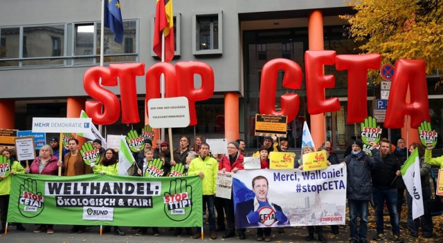 Manifestation of the Berlin Association against TTIP, TiSA, CETA