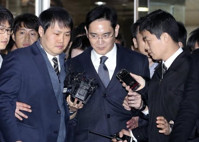 Samsung chief Lee Jae-yong under detention