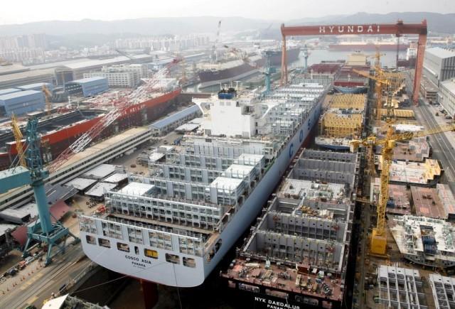 Μείωση του πιστωτικού ανοίγματος των κορεάτικων τραπεζών για τα ναυπηγεία της χώρας