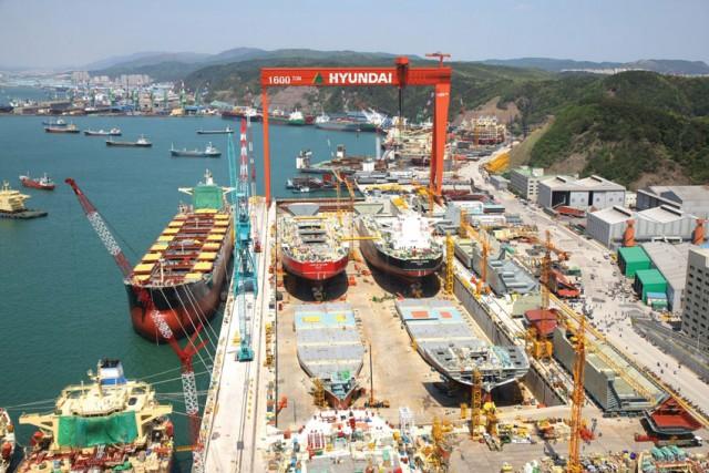 Οι εργαζόμενοι της Hyundai Heavy Industries αντιδρούν στη διάσπασή της
