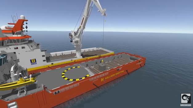 Nέο σύστημα αντιστάθμισης γερανού για υπεράκτιες μεταφορές φορτίου