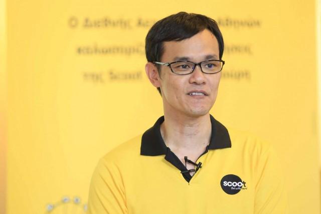 Ο κος Lee Lik Hsin, CEO της Scoot στην Αθήνα