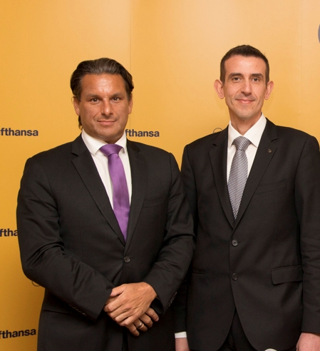 Lufhansa's vice president of Sales & Services for Southeast Europe, Africa and the Middle East, Tamur Goudarzi-Pour; new general manager for Greece and Cyprus, Konstantinos Tzevelekos