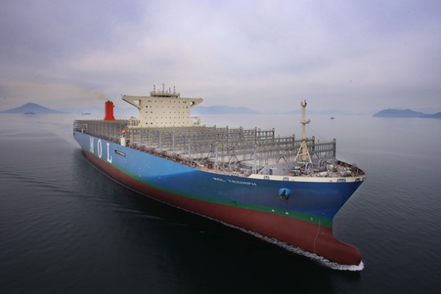 Ολοκληρώθηκε η κατασκευή του μεγαλύτερου παγκοσμίως containership