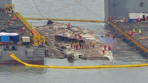 Η ναυαγιαίρεση του νοτιοκορεατικού οχηματαγωγού «Sewol»