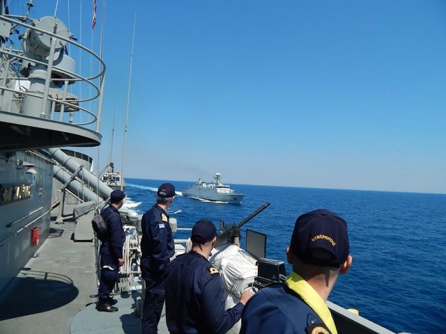 Συνεκπαίδευση της φρεγάτας Φ/Γ ΣΑΛΑΜΙΣ με τις φρεγάτες του Ναυτικού του Μαρόκου (φωτο)