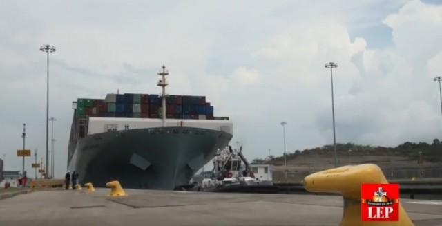 φωτο containership στη διωρυγα του παναμα