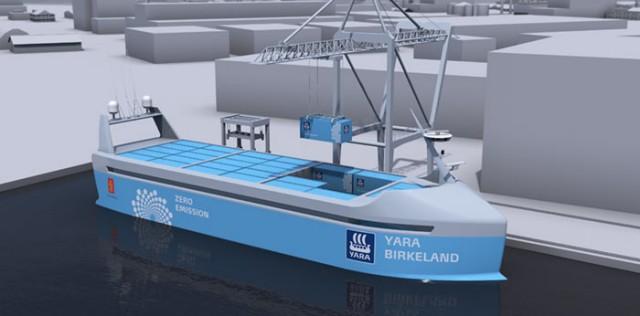 Το πρώτο πλήρως ηλεκτρικό και αυτόνομο πλοίο μεταφοράς εμπορευματοκιβωτίων