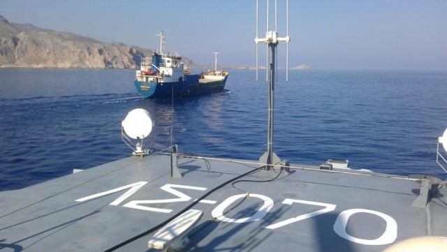 Εντοπισμός φορτηγού πλοίου σημαίας Μάλτας με φορτίο εκρηκτικών υλών