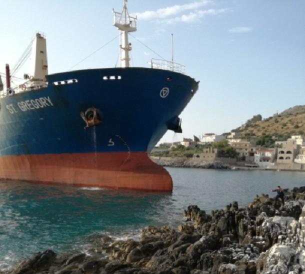 Φορτηγό πλοίο προσάραξε στο Λακωνικό Κόλπο