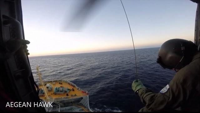 Δείτε σε βίντεο τη διάσωση ασθενούς με ελικόπτερο του ΠΝ