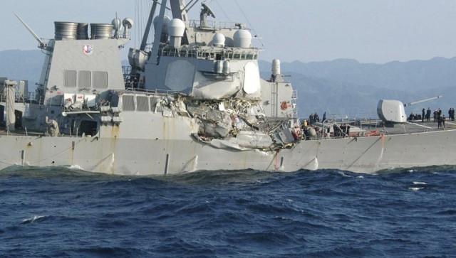 Σύγκρουση αμερικανικού αντιτορπιλικού με εμπορικό πλοίο κοντά στις ιαπωνικές ακτές