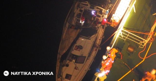 Διάσωση επιβατών ιστιοφόρου από το πλήρωμα του δεξαμενόπλοιου «Maran Gas Amphipolis»