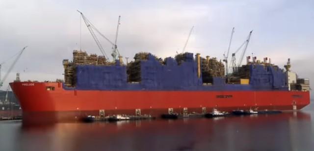 Η μεγαλύτερη πλωτή μονάδα επεξεργασίας ΥΦΑ στον κόσμο ανήκει στην Shell