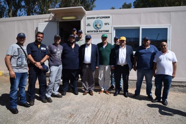 Νέες υποσχέσεις για στήριξη της ναυπηγοεπισκευής από τον υπουργό Ναυτιλίας
