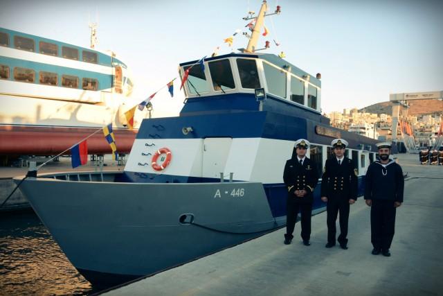 """Τελετή ονοματοδοσίας νεότευκτου βοηθητικού πλοίου βάσεως """"ΔΗΜΗΤΡΙΑΣ"""""""