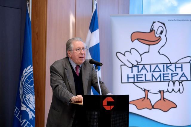 Ο Δρ. Γ. Γράτσος, Πρόεδρος της HELMEPA