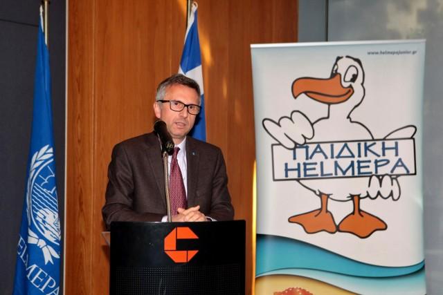 Ο κ. Θ. Σταματέλλος, Area Manager, Greece, East Mediterranean and Adriatic του Hellenic Lloyd's