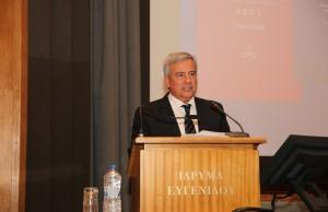 Στο βήμα, ο πρόεδρος του Ιδρύματος Ευγενίδου, κ. Λεωνίδας Δημητριάδης Ευγενίδης